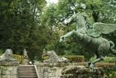Pegasova fontána v Malém parteru salcburských  zahrad Mirabell